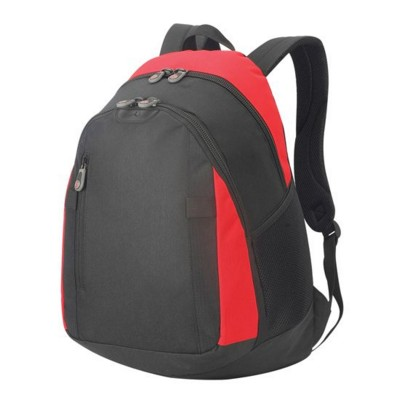Picture of FREIBURG LAPTOP BACKPACK RUCKSACK in Black & Red