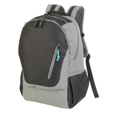 Picture of COLOGNE ABSOLUTE LAPTOP BACKPACK RUCKSACK in Black & Grey Mélange