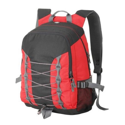 Picture of MIAMI BACKPACK RUCKSACK in Red & Black with Lace Front