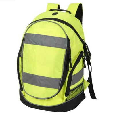 Picture of HIGH VISIBILITY REFLECTIVE BACKPACK RUCKSACK in Neon Fluorescent Yellow