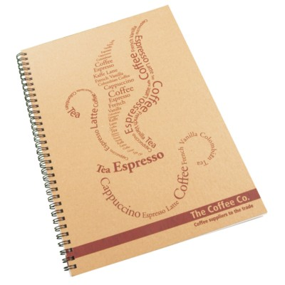 Picture of ENVIRO-SMART NATURAL COVER A4 SPIRAL WIRO BOUND NOTE PAD