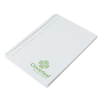 Picture of ENVIRO-SMART WHITE COVER A4 SPIRAL WIRO BOUND NOTE PAD