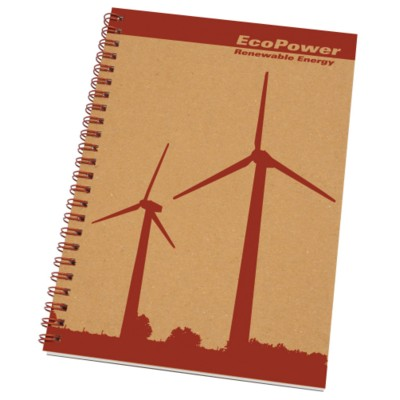 Picture of ENVIRO-SMART NATURAL COVER A5 SPIRAL WIRO BOUND NOTE PAD