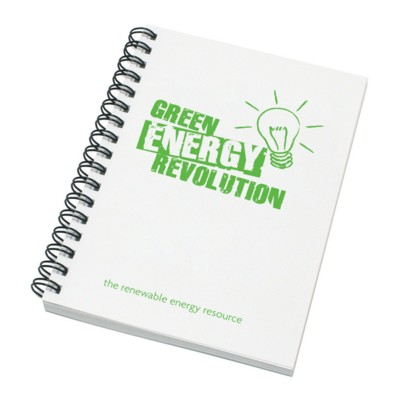 Picture of ENVIRO-SMART WHITE COVER A6 SPIRAL WIRO BOUND NOTE PAD