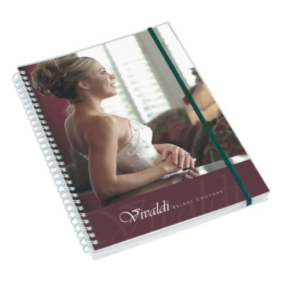 Picture of WIRO-SMART A6 POLYPROPYLENE NOTE PAD with Elasticated Strap