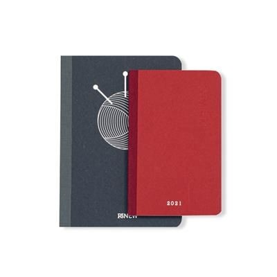 Picture of CANVAS ECO-FRIENDLY PERFECT BOUND FLAT OPENING NOTE BOOK DIARY