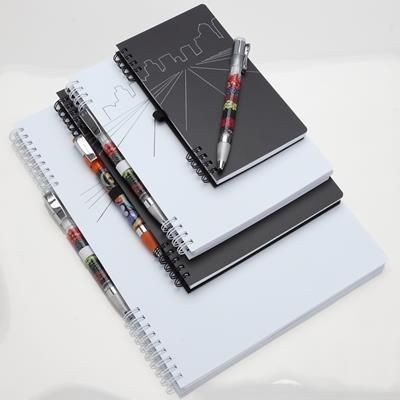 Picture of ECO-FRIENDLY SEN20 WIRE-O BOUND NOTE BOOK with Integrated Pen-loop