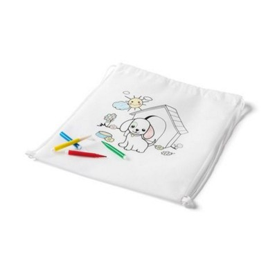 Picture of CHILDRENS COLOURING DRAWSTRING BAG