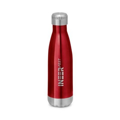 Picture of SHOW DOUBLE-WALLED STAINLESS STEEL METAL SPORTS BOTTLE with Lid