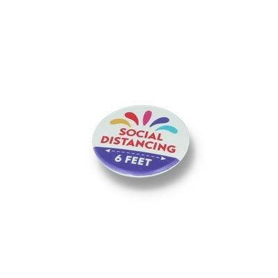 Picture of SOCIAL DISTANCING BUTTON BADGE – 37MM CIRCLE