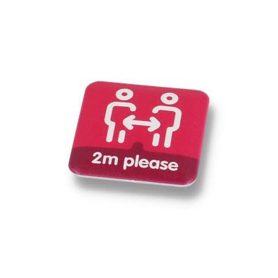 Picture of SOCIAL DISTANCING BUTTON BADGE – 37MM SQUARE