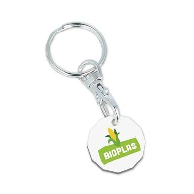 Picture of BIODEGRADABLE NEW £1 TROLLEY COIN KEYRING