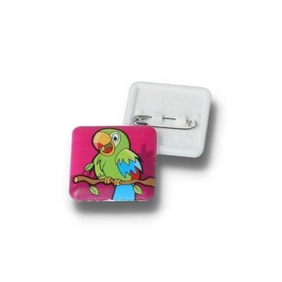 Picture of RECYCLED 25MM SQUARE BUTTON BADGE