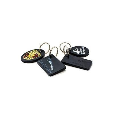 Picture of RECYCLED DELUXE KEYRING RECTANGULAR