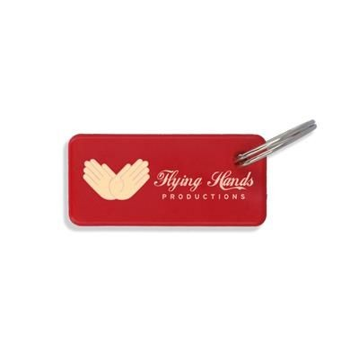 Picture of RECYCLED DELUXE KEYRING LONG RECTANGULAR