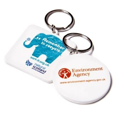 Picture of RECYCLED SQUARE 45MM KEYRING