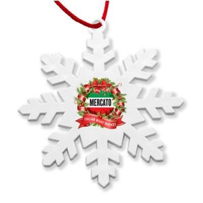 Picture of RECYCLED SNOWFLAKE DECORATION