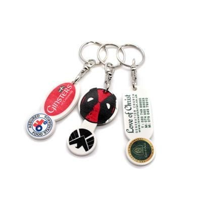 Picture of RECYCLED TROLLEY COIN KEYRING