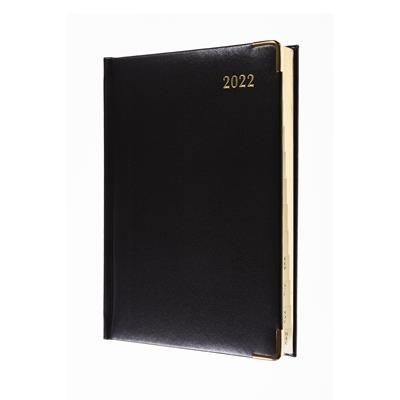 Picture of COLLINS CLASSIC COMPACT DAY TO PAGE APPOINTMENT DIARY in Black