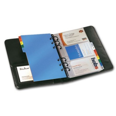 Picture of COLLINS BUSINESS CARD RINGBINDER in Black