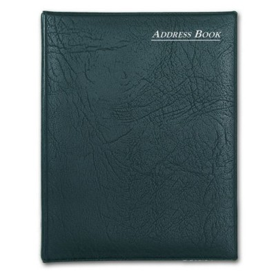 Picture of COLLINS SPIRAL WIRO BOUND ADDRESS BOOK in Black