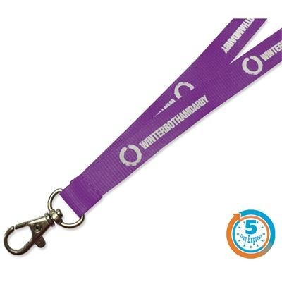 Picture of 5 DAY EXPRESS FLAT POLYESTER LANYARD with Safety Break
