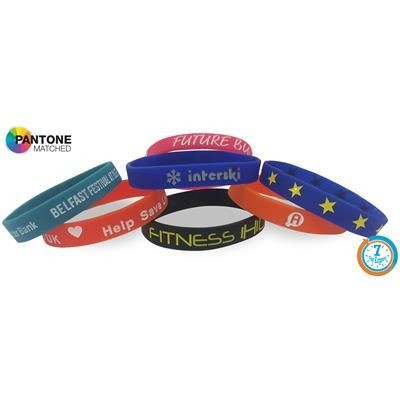 Picture of EXPRESS SILICON DEBOSSED COLOUR INFILL WRIST BAND