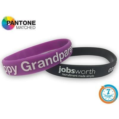 Picture of EXPRESS SILICON EMBOSSED COLOUR INFILL WRIST BAND