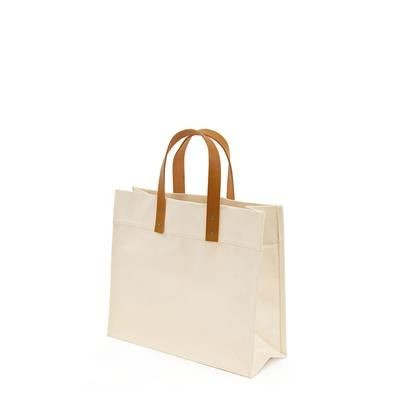 Picture of FUNGO 16OZ 510GSM CANVAS BAG with Leather Handle