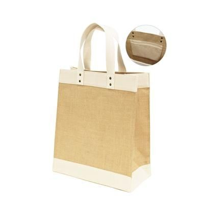 Picture of GIRI LAMINATED JUTE with Canvas Trim & Inner Pocket
