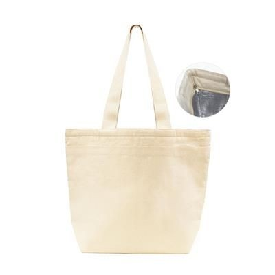 Picture of PANYA 10OZ 310GSM CANVAS BAG with Padded Foil Lining, Zipper Closure & Front Pocket