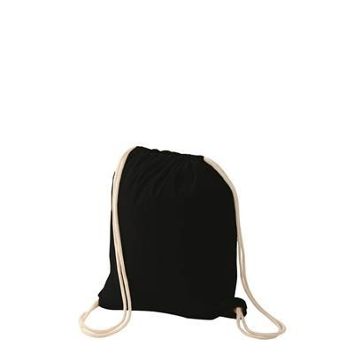 Picture of 5OZ DYED BLACK COTTON POUCH BAG with Cotton Drawstring