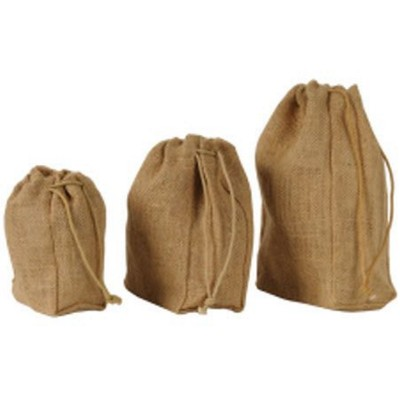 Picture of NATURAL JUTE SMALL DRAWSTRING POUCH in Natural