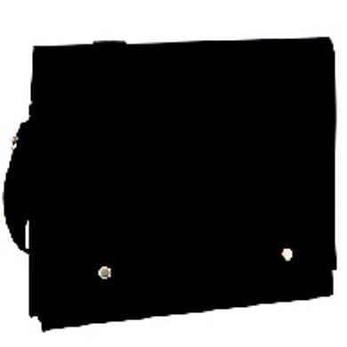 Picture of PIMBI 10OZ CANVAS MESSENGER BAG with Adjustable Strap Handles in Black