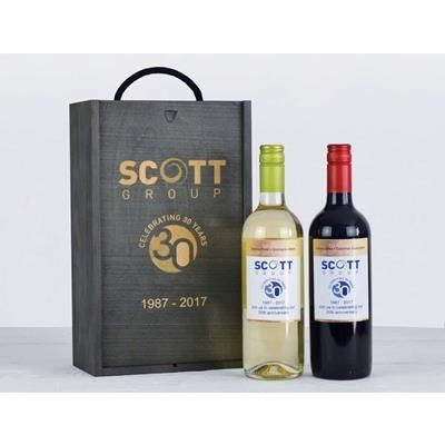 Picture of PERSONALISED WINE DUO HAMPER