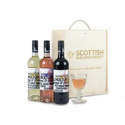 Picture of PERSONALISED GIFT BOX TRIPLE WINE SELECTION