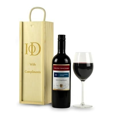 Picture of BRANDED OWN LABEL RED WINE with Engraved Wood Box