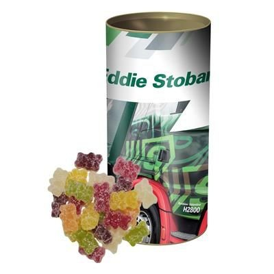 Picture of TASTY VEGAN JELLY BEARS in a Personalised Tubby Tube 200g
