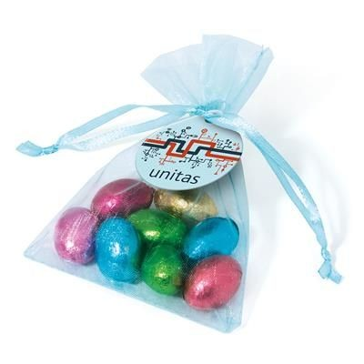 Picture of ORGANZA BAG - CHOCOLATE FOILED MINI EGGS