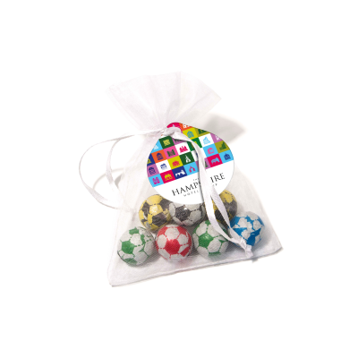 Picture of ORGANZA BAG - CHOCOLATE FOOTBALL