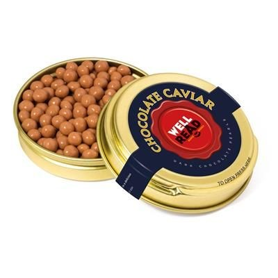 Picture of GOLD CAVIAR TIN FILLED with Salted Caramel Chocolate Pearls