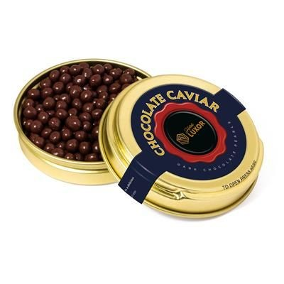 Picture of GOLD CAVIAR TIN FILLED with Dark Chocolate Pearls