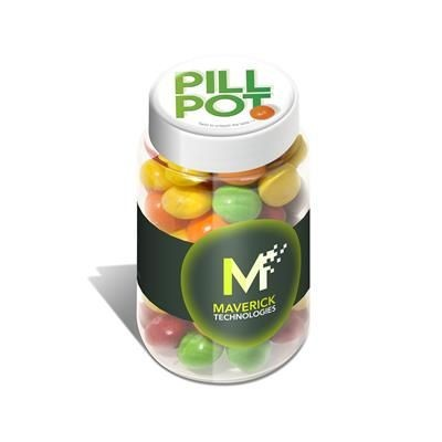 Picture of PILL POT OF SKITTLES SWEETS