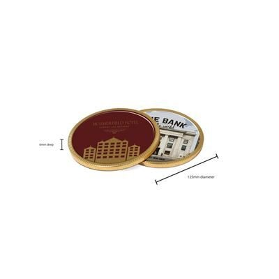 Picture of CHOCOLATE MEDALLION COIN 125MM