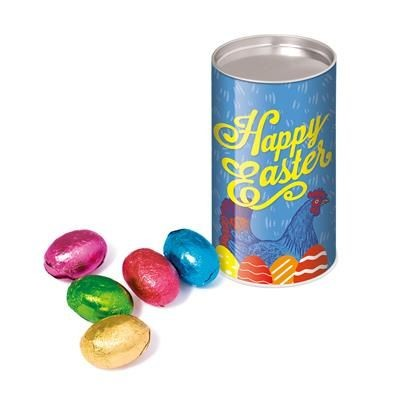 Picture of EASTER SMALL SNACK TUBE - FOILED MINI EGGS
