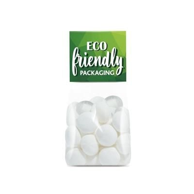 Picture of ECO RANGE SMALL BLOCK BOTTOM BAG FILLED with Mints Imperials