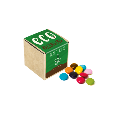 Picture of ECO KRAFT CUBE with Chocolate Beanies