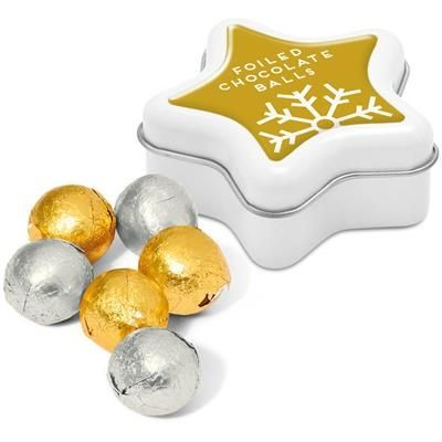 Picture of MINI STAR TIN with Foiled Chocolate Balls