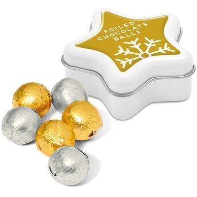 MINI STAR TIN with Foiled Chocolate Balls