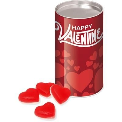 Picture of VALENTINES 2020 SMALL SNACK TUBE with Haribo Heart Throbs